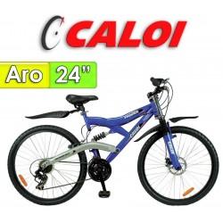 """Bici Aro 24"""" Profox - Caloi - Azul - 18 Velocidades"""