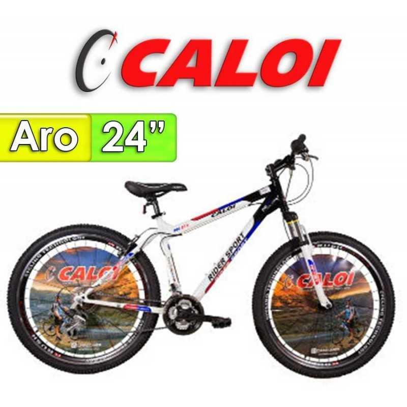 """Bici Aro 24"""" Rider Sport - Caloi - Negro - 18 Velocidades"""