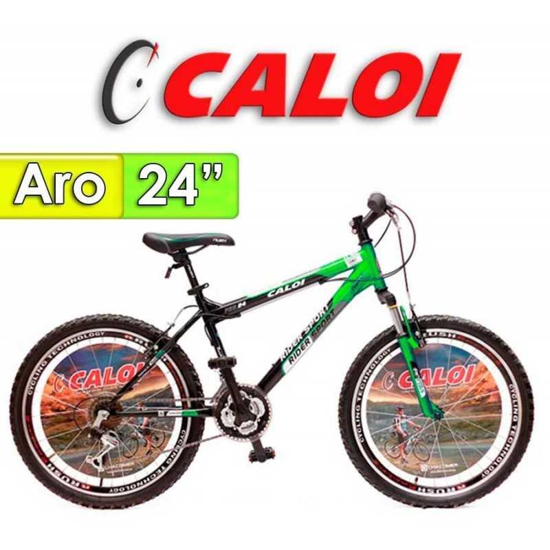 """Bici Aro 24"""" Rider Sport - Caloi - Verde - 18 Velocidades"""