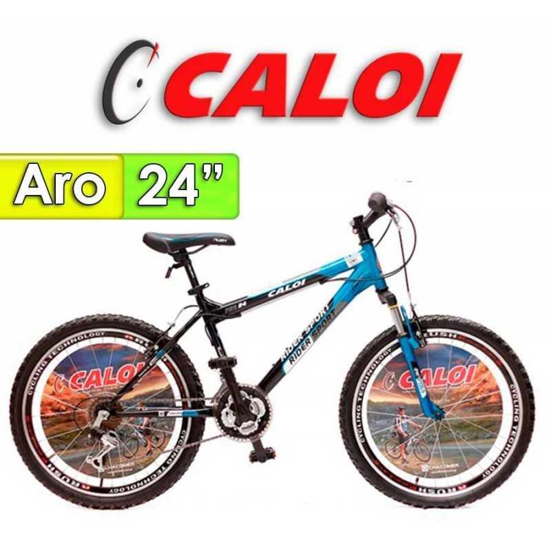 """Bici Aro 24"""" Rider Sport - Caloi - Azul - 18 Velocidades"""