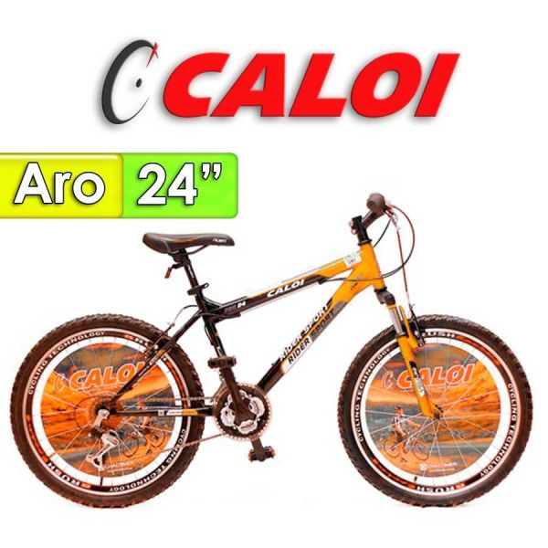 "Bici Aro 24"" Rider Sport - Caloi - Naranja - 18 Velocidades"