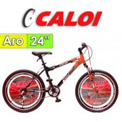 """Bici Aro 24"""" Rider Sport - Caloi - Rojo - 18 Velocidades"""