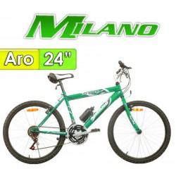 """Bici Aro 24"""" Action Caballero - Milano - Verde - 18 Velocidades"""