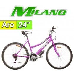"""Bici Aro 24"""" Action Dama - Milano - Lila - 18 Velocidades"""