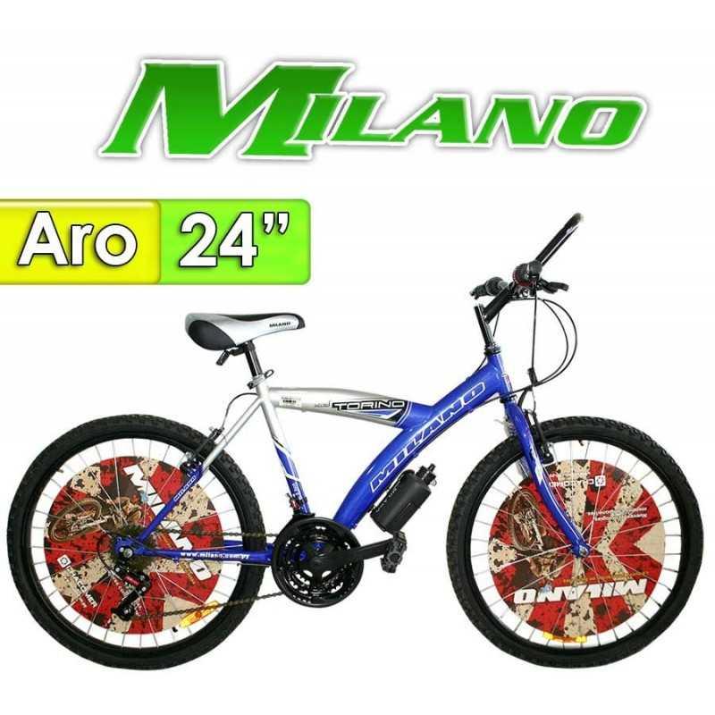 """Bici Aro 24"""" Torino - Milano - Azul - 18 Velocidades"""