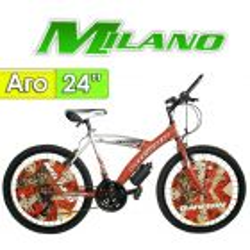 """Bici Aro 24"""" Torino - Milano - Rojo - 18 Velocidades"""