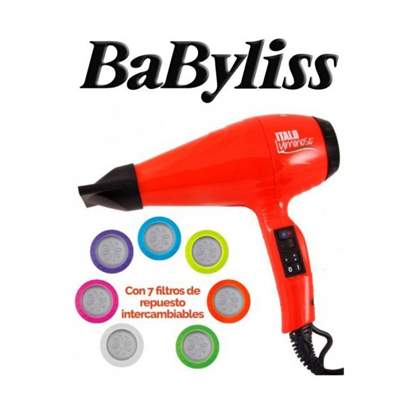 Secador de Pelo Italo Luminoso - Babyliss - Naranja