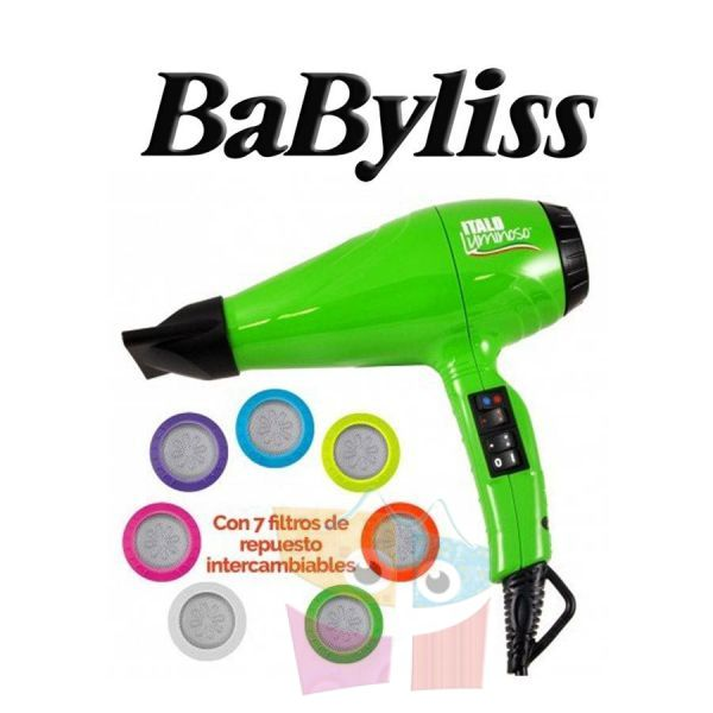 Secador de Pelo Italo Luminoso - Babyliss - Verde