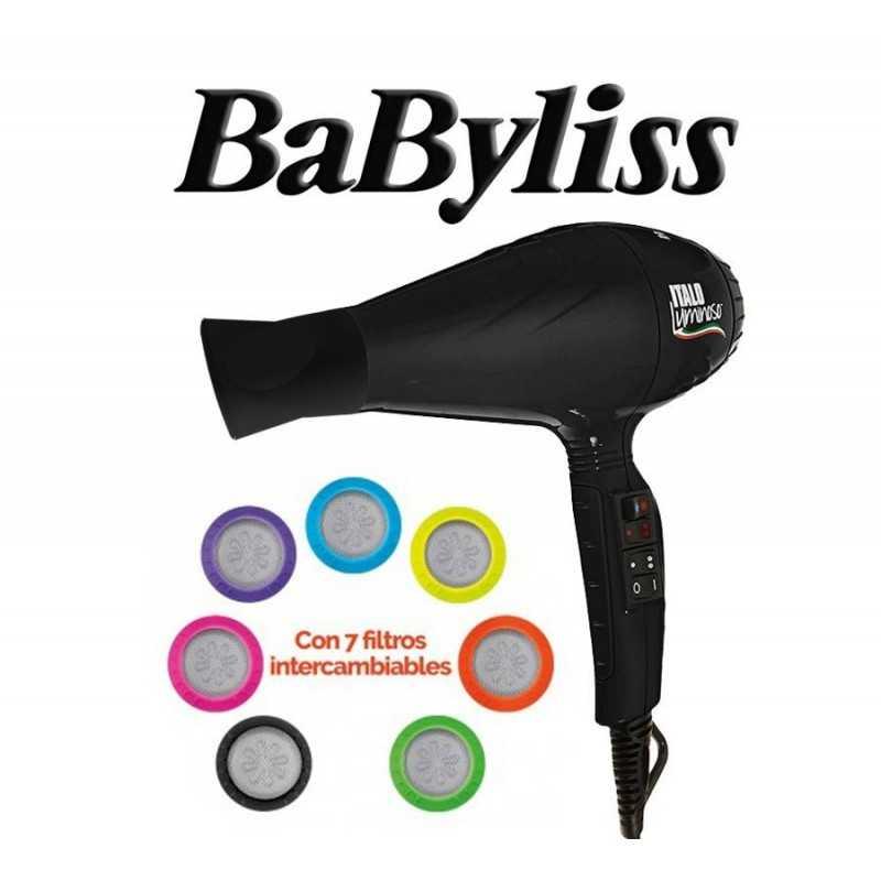 Secador de Pelo Italo Luminoso - Babyliss - Negro