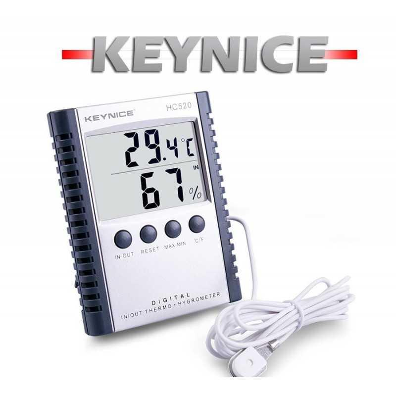 Termohigrometro - Keynice - Con temperatura y humedad interior y sonda de temperatura
