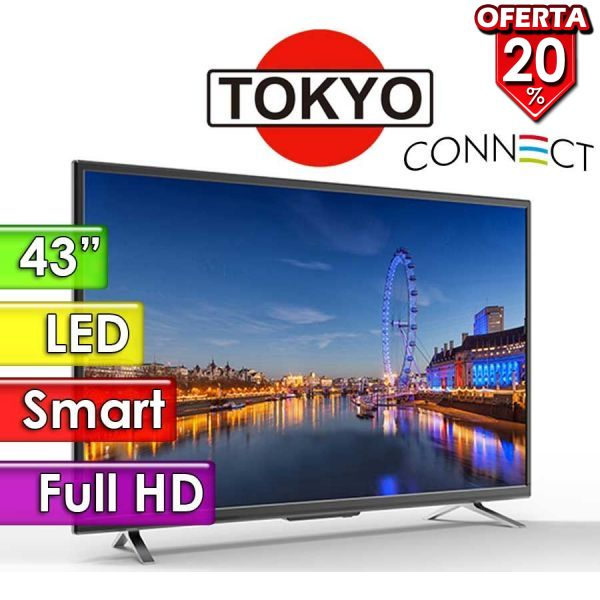 """TV Led FHD 43"""" Smart - Tokyo - CONNECT TVTOKTCLED43S"""