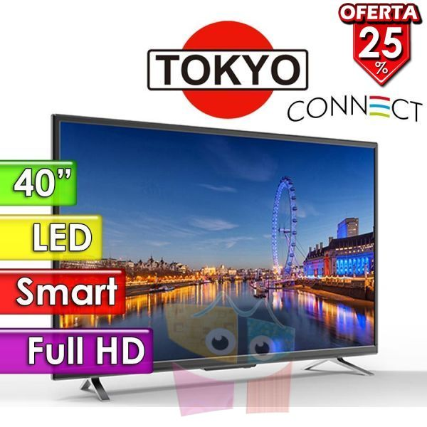 "TV Led Full HD 40"" Smart - Tokyo - CONNECT TVTOKTCLED40S"