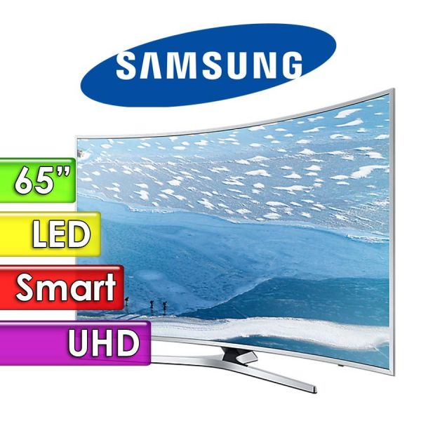 "TV Led UHD 65"" Smart 4K Curvo - Samsung - UN65KU6500GXPR"