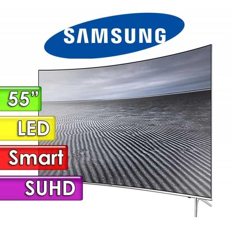 """TV Led UHD 55"""" Smart 4K Curvo - Samsung - UN55KS7500GXPR - Linea Metálica"""