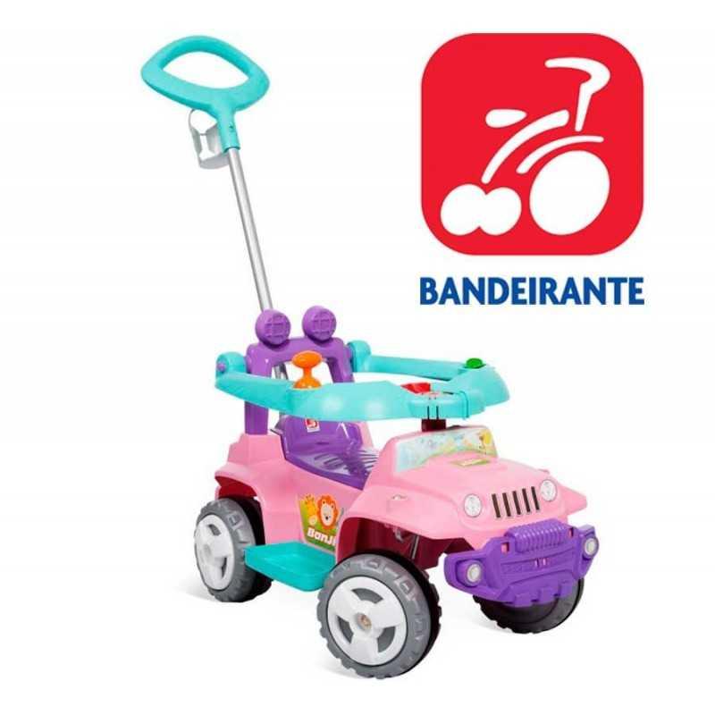 Autito Jeep Paseo y Andador Rosa - Bandeirante - 1056
