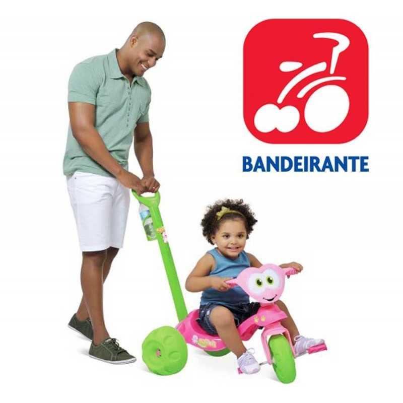 Triciclo Zootico Osito Rosa - Bandeirante - 783