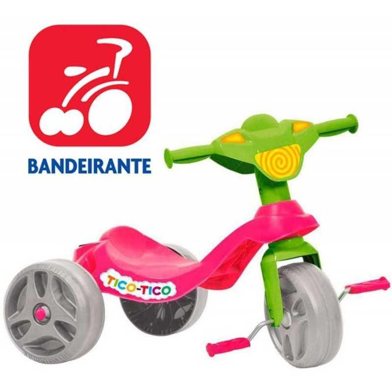 Triciclo Tico Tico Rosa - Bandeirante - 652