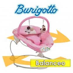Sillita de Descanso con Balanceo y Sonidos - Burigotto -  Happy Hour Rosa