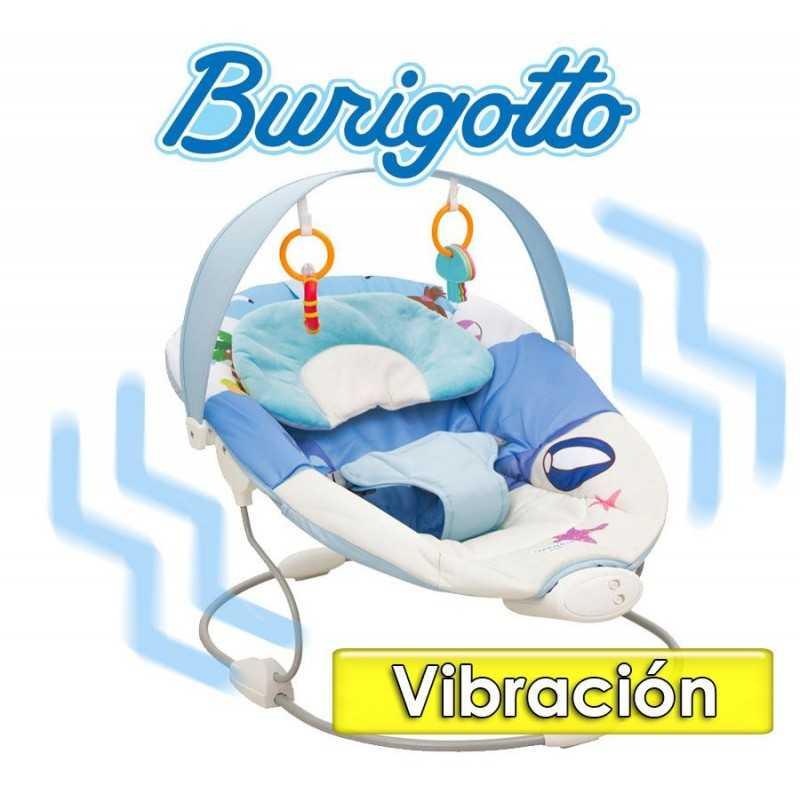 Sillita de Descanso con  Vibración y sonidos - Burigotto - Sonequinha Azul