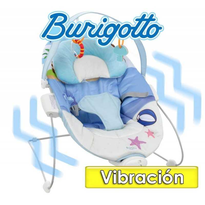 Sillita de Descanso con  Vibración y sonidos - Burigotto - Rocker Azul