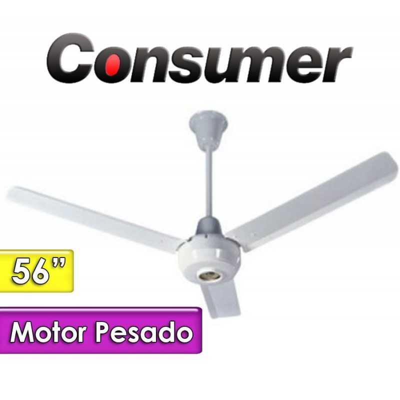"""Ventilador de Techo 56"""" Motor Pesado 5 Velocidades - Consumer - 54"""