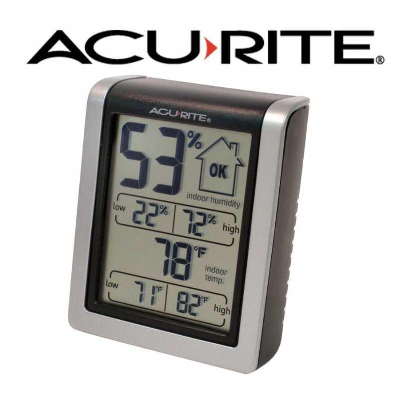 Termohigrometro inalambrico - AcuRite - Con 3 sensores de temperatura y humedad exterior