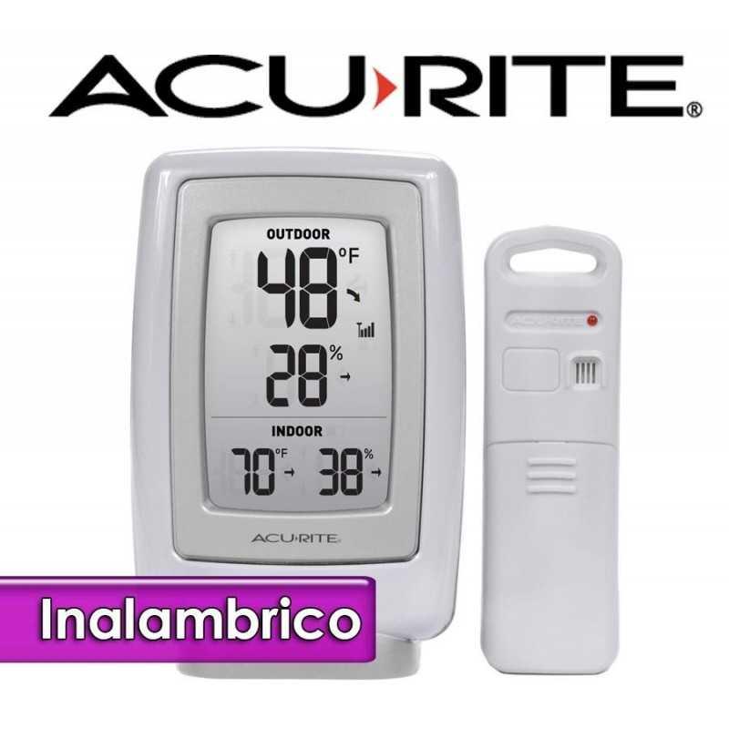 Termohigrometro inalambrico - AcuRite - Con temperatura interior y exterior