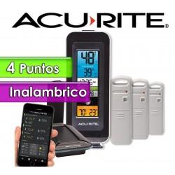Termohigrometro inalambrico - AcuRite - Con 4 Sensores de temperatura y humedad interior y exterior con control por PC y APP