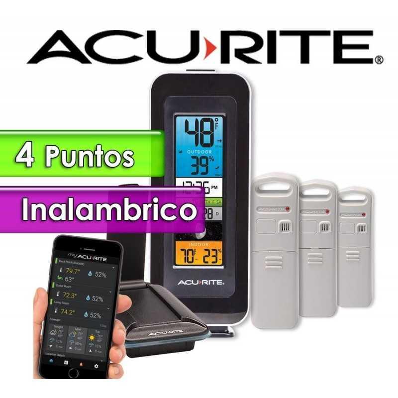 Termohigrometro inalambrico - AcuRite - Con temperatura y humedad interior y exterior con control por PC y APP