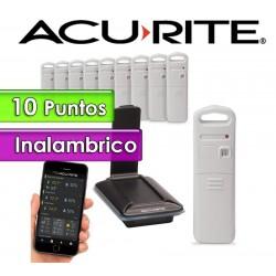 Termohigrometro inalambrico - AcuRite - Con 10 sensores de temperatura y humedad interior y exterior con control por PC y APP