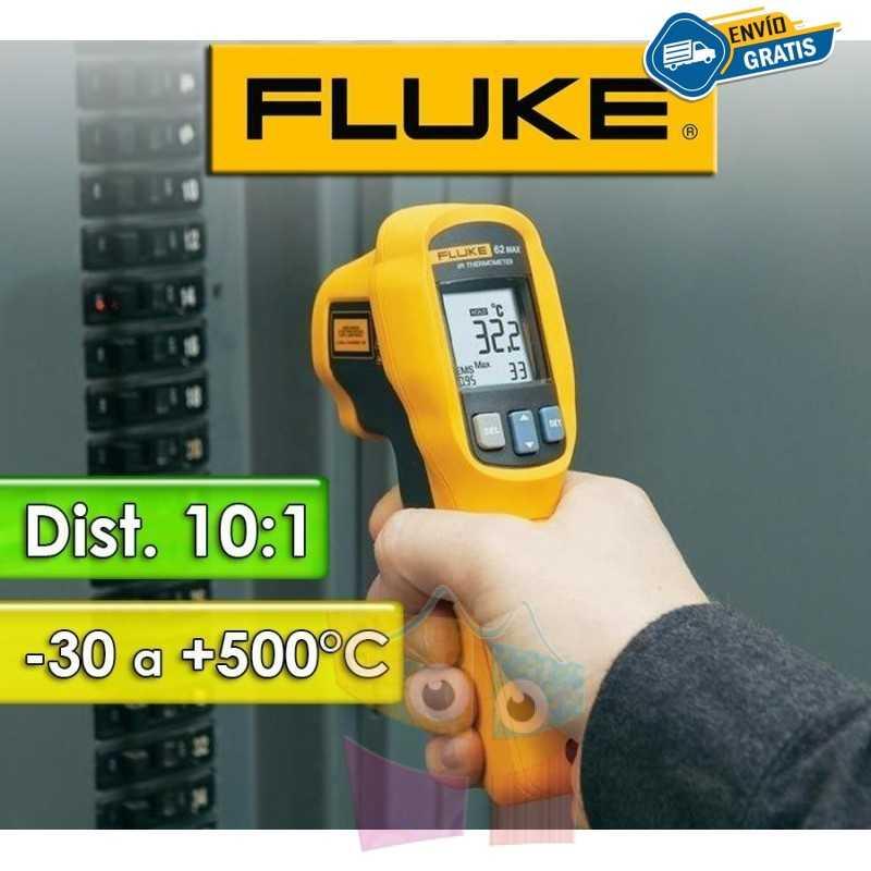Termómetro Infrarrojo - Fluke - 62 Max - Escala -30 a +500°C / 10:1