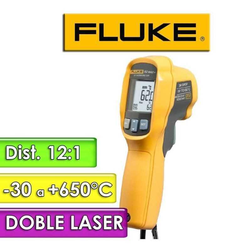 Termómetro Infrarrojo - Fluke - 62 Max + PLUS - Escala -30 a +650°C / 12:1