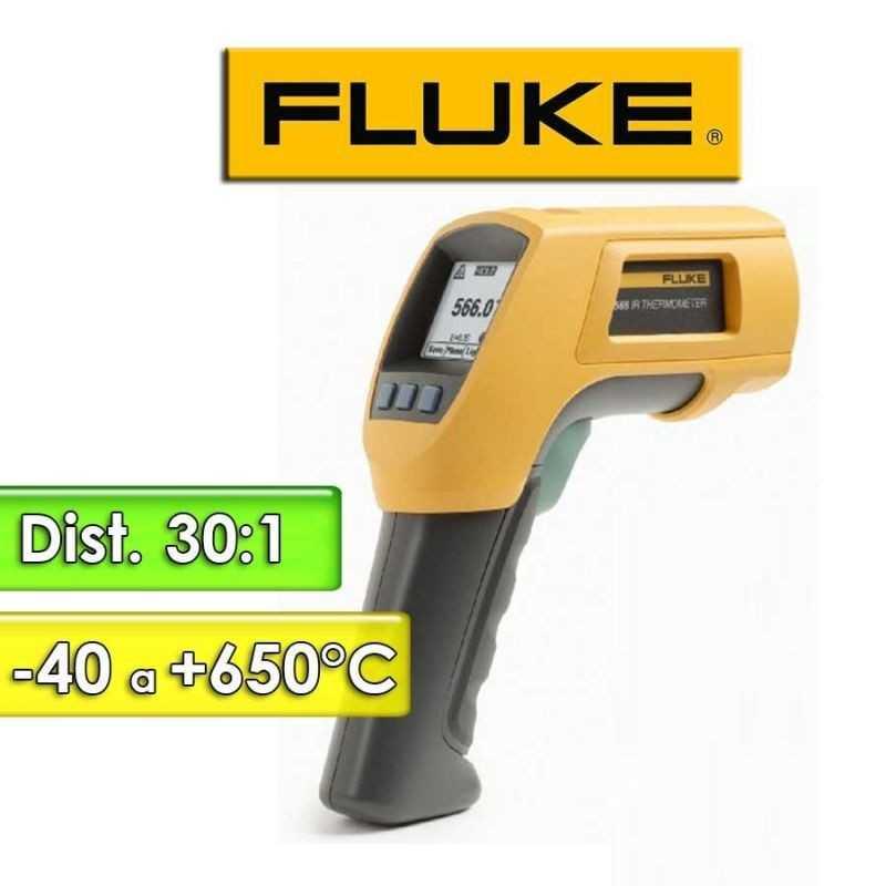 Termómetro Infrarrojo - Fluke - 566 - Escala -40 a +650°C / 30:1