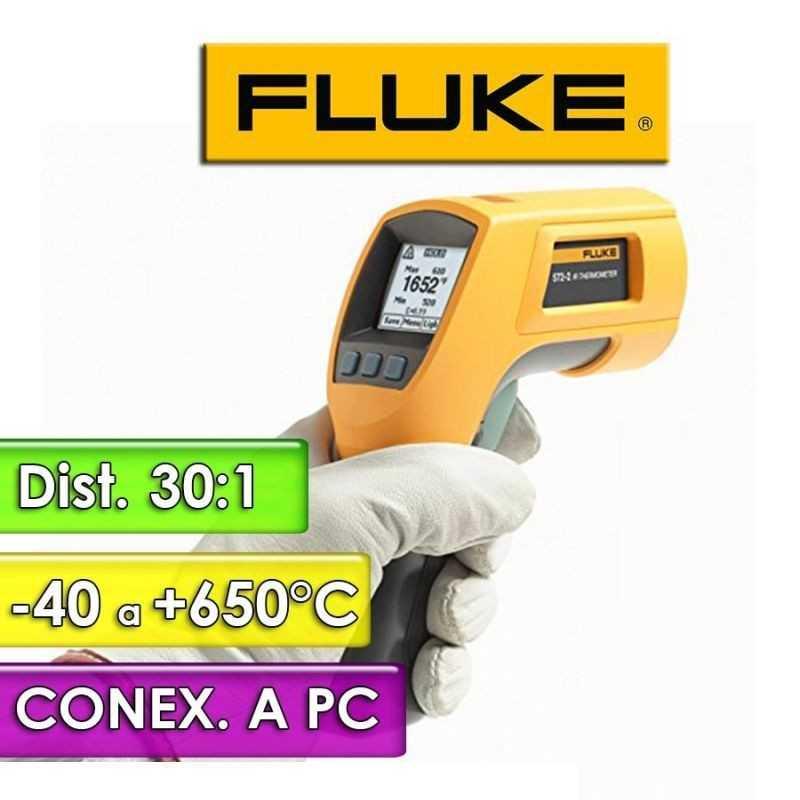 Termómetro Infrarrojo - Fluke - 572-2 - Escala -30 a +900°C / 60:1