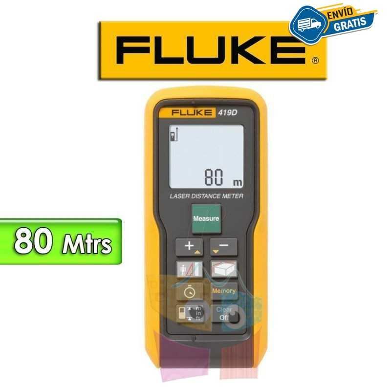 Medidor de Distancia Laser - Fluke - 419D - Distancias hasta 80 metros