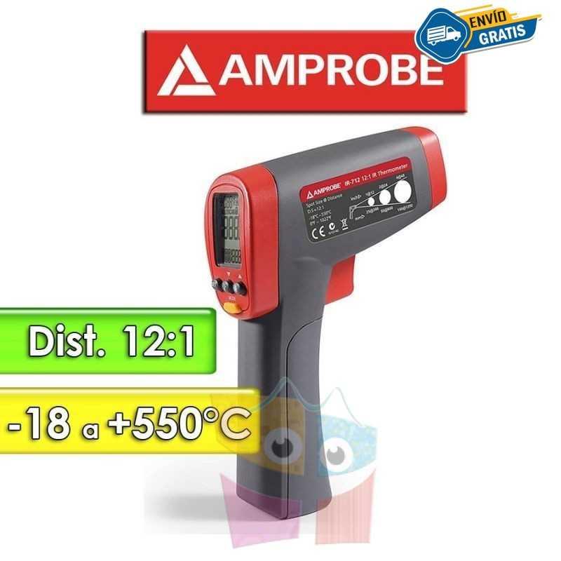 Termómetro Infrarrojo - Amprobe - IR-712 - Escala -18 a +550°C / 12:1