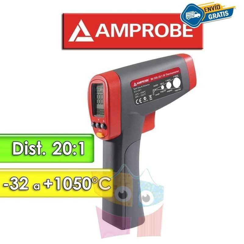 Termómetro Infrarrojo - Amprobe - IR-720 - Escala -32 a +1050°C / 20:1