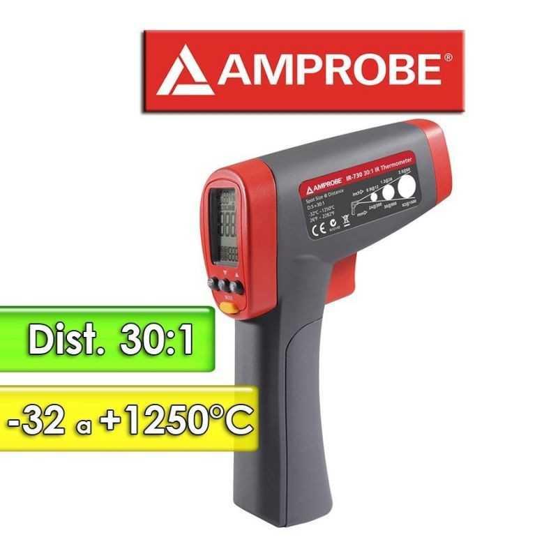 Termómetro Infrarrojo - Amprobe - IR-730 - Escala -32 a +1250°C / 30:1
