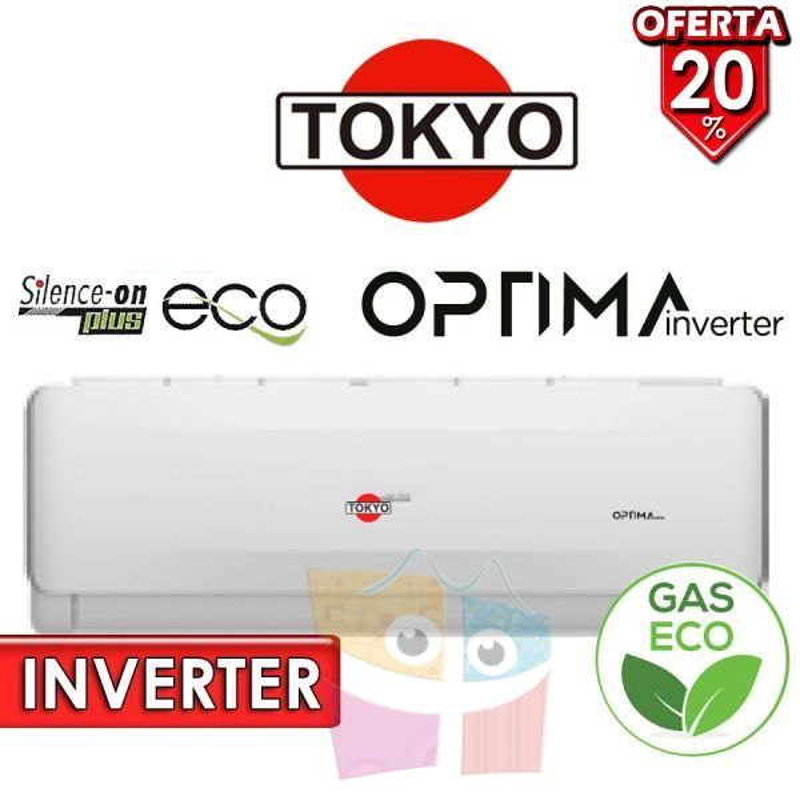 Aire Split - 18.000 BTU F/C Gas Ecologico - Tokyo - OPTIMA INVERTER FH17-18CHRDI1