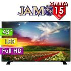 "TV Led Full HD 43"" - JAM - 43DN6 - BLACK SLIM"