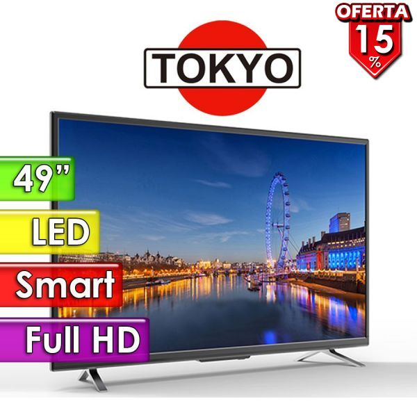 "TV Led Full HD 49"" Smart - Tokyo - CONNECT TVTOKTCLED49S"