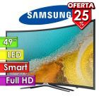 "TV Led Full HD 49"" Smart Curvo - Samsung - Serie 6 UN49K6500AGXPR"