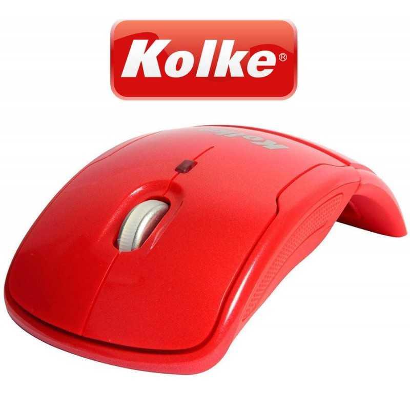 Mouse Optico Inalambrico Plegable - Kolke - KM-100