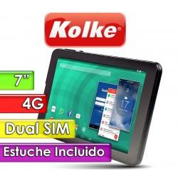 "Tablet 7"" Dual SIM 4G - Kolke - KTI-174 con Estuche"