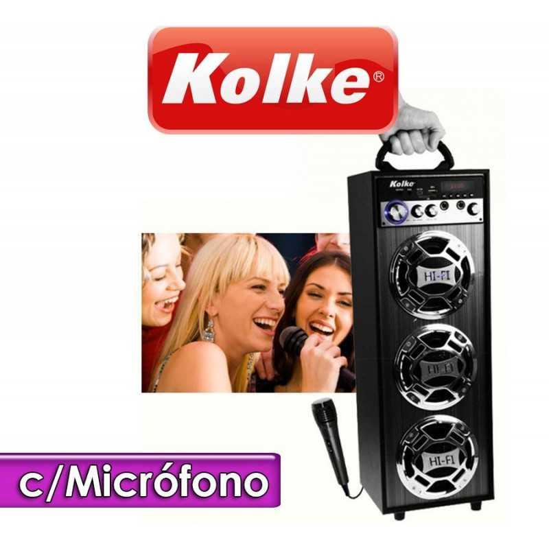 Parlante Karaoke Multifunción KPG-100 - Kolke - Con cargador KPB200