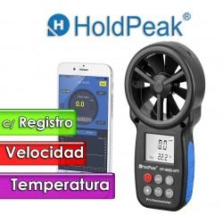 Termo Anemometro - Hold Peak - HP-866B-APP Con Registro de Datos