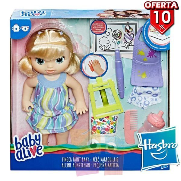 Baby Alive Finger Paint Baby Blonde - Hasbro