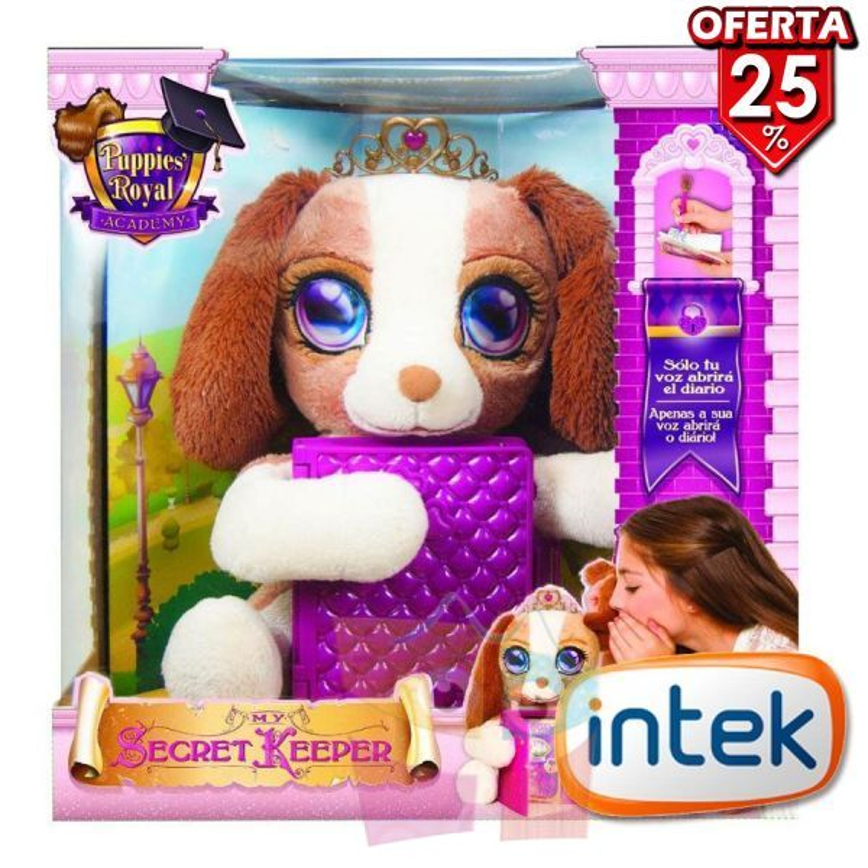 My Secret Keeper Puppies Royal Academy Mascota Interactiva - Intek