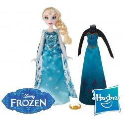 Muñeca Frozen Moda Real Elsa Disney - Hasbro