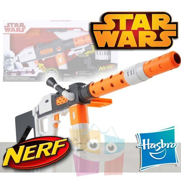 Rifle Laser de Lujo Star Wars First Order Storm Trooper  Nerf - Hasbro